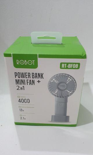 Robot Power Bank + Mini Fan 4000 mAh #mauTHR