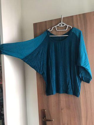 Dark turquoise butterfly top