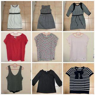 Any 2 for $12 - Wore 1x only - Assorted Ladies tops & dress (Warehouse, Showgirl, Guess, Esprit)