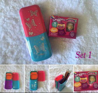 Smiggle Fold It Pencil Case & Pen Cup in ONE