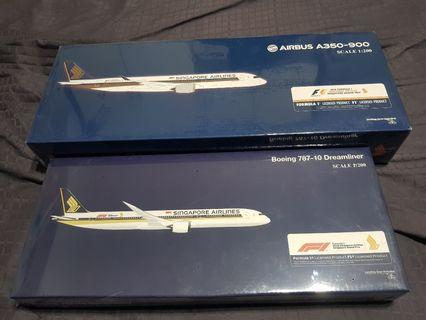 A350 and Boeing 787 Scale Model