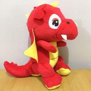 紅色恐龍飛龍毛公仔