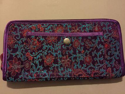 Brand new embroidered wallet