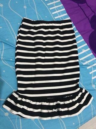 Stripe Peplum Skirt / Rok Peplum Belang #mauTHR