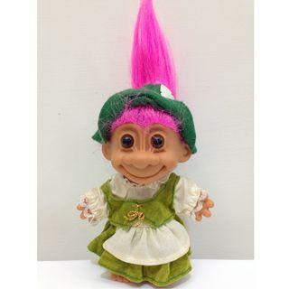 幸運小子 (德國鄉村娃)醜娃、巨魔娃娃、醜妞、Troll Doll、魔髪精靈、魔法精靈、傳統服飾、GERMANY