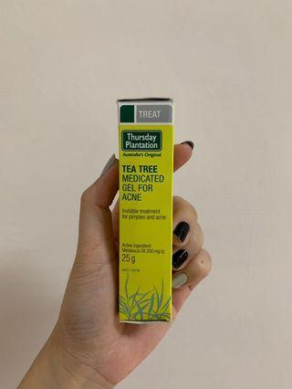tea tree medicated gel for acne 星期四農莊 茶樹去痘凝膠