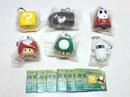 Mario 孖寶兄弟 軟綿綿 扭蛋 掛飾 全套6隻 齊蛋紙 全新 A款