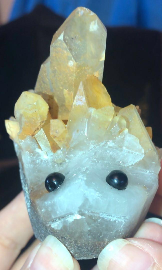 天然黃水晶/晶簇/原礦石/刺蝟🦔