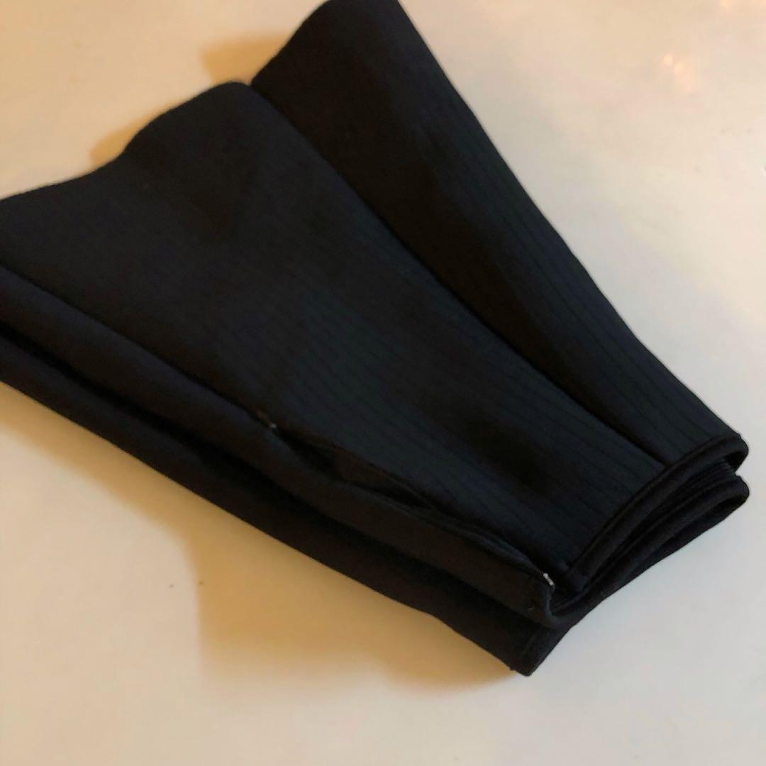 純色素面黑太空棉百摺裙☕️ (穿過一次)