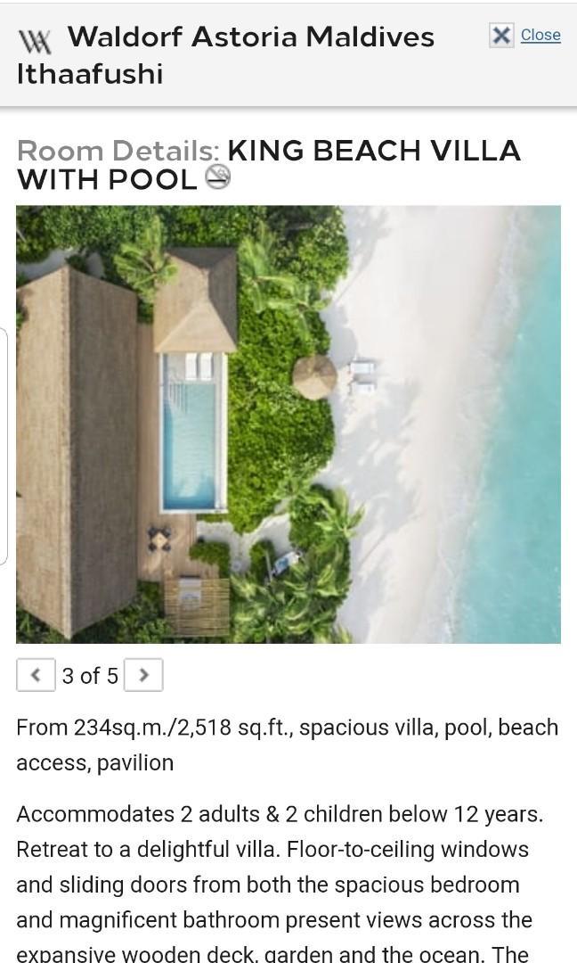馬爾代夫  華爾道夫酒店
