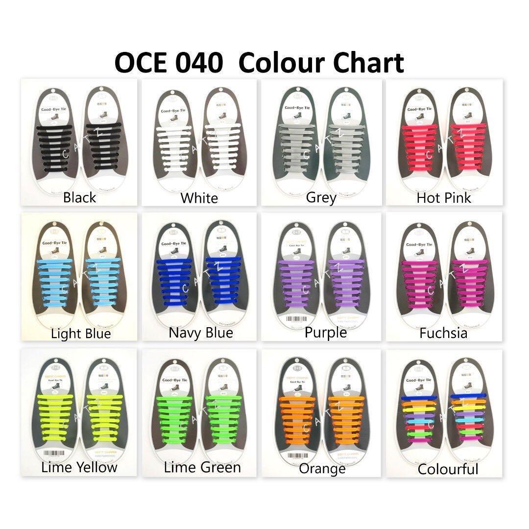 < CATZ > Shoelaces Silicone Shoelace No Tie Shoelace Flat Shoelace Colourful Shoelace Sports Shoelace Shoe String Shoe Lace Elastic