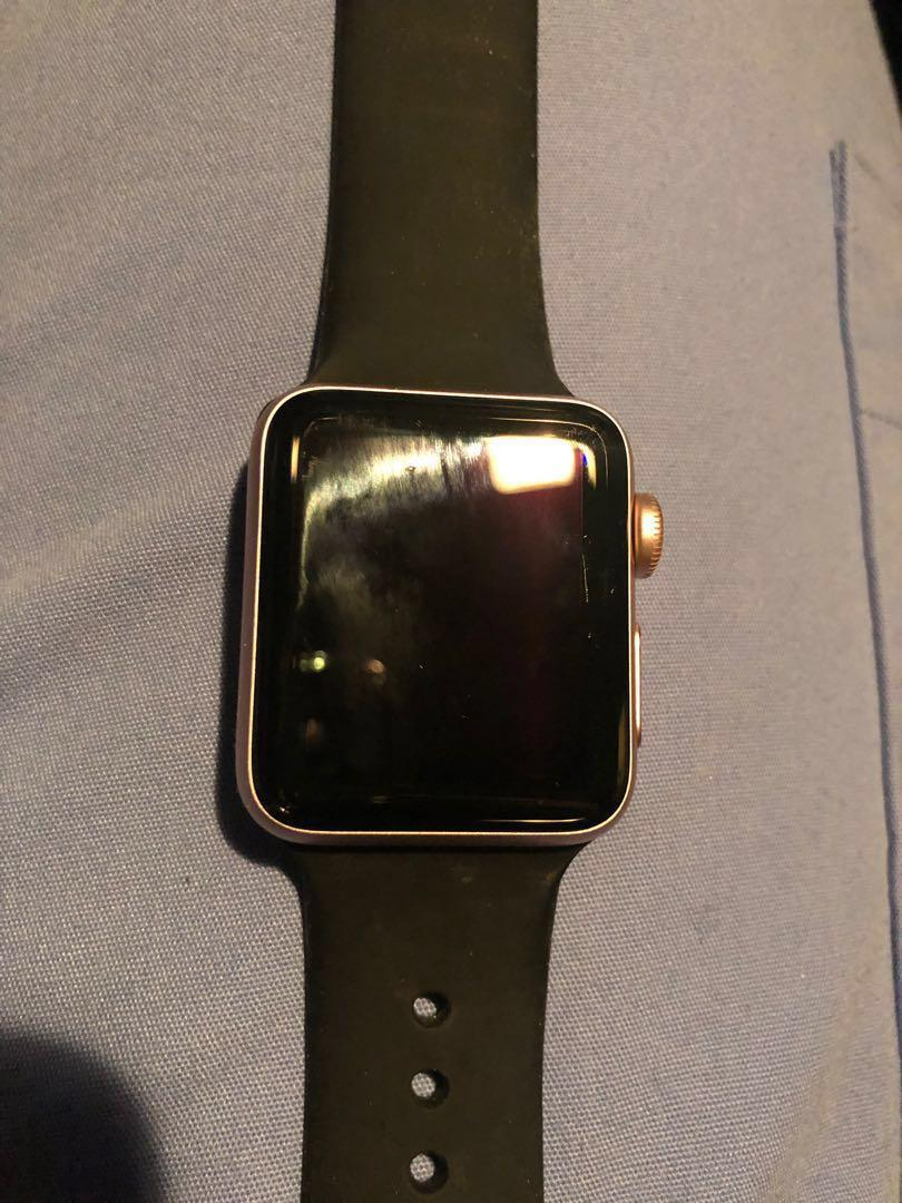 Apple Watch series 2 with GPS 38mm. Black band