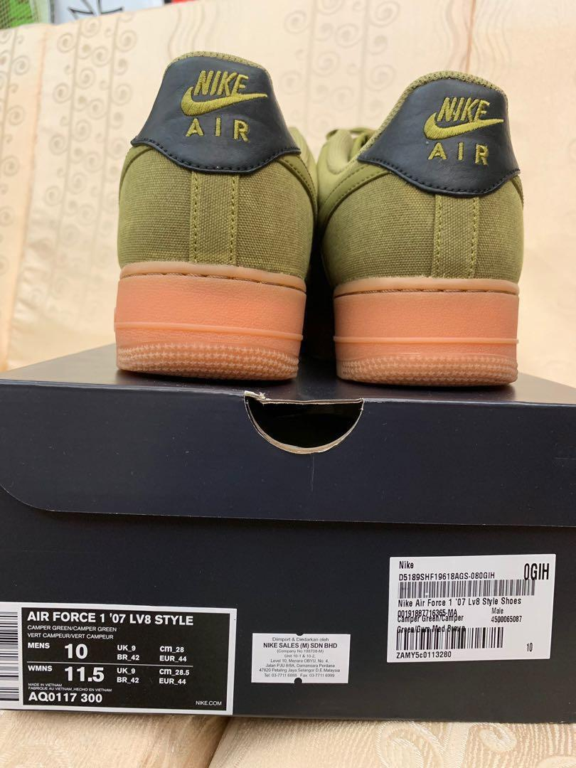 Authentic Camper Green Air Force 1 '07