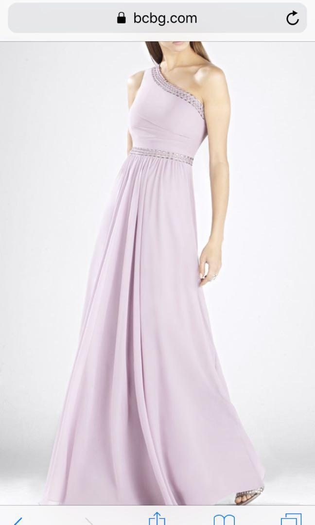 BCBG SIZE 6 - Lilac One Shoulder Bridesmaid/Prom Dress!