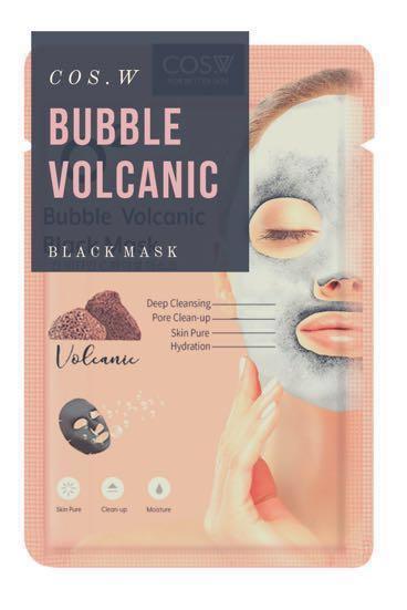 Beauty Facial Mask Sheet : Bubble Volcanic Black Mask COS.W (Masker Wajah)