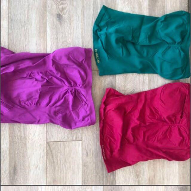 Bebe Strapless Tops Size Small