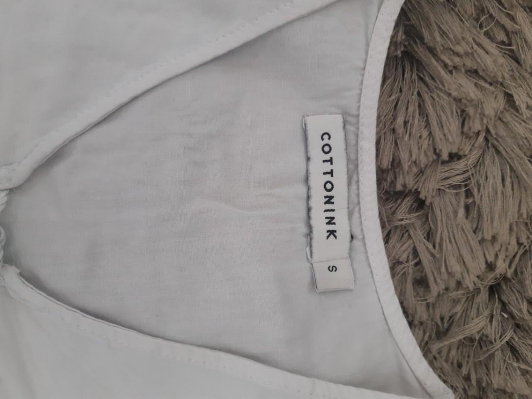 Blouse Putih White Cotton Ink