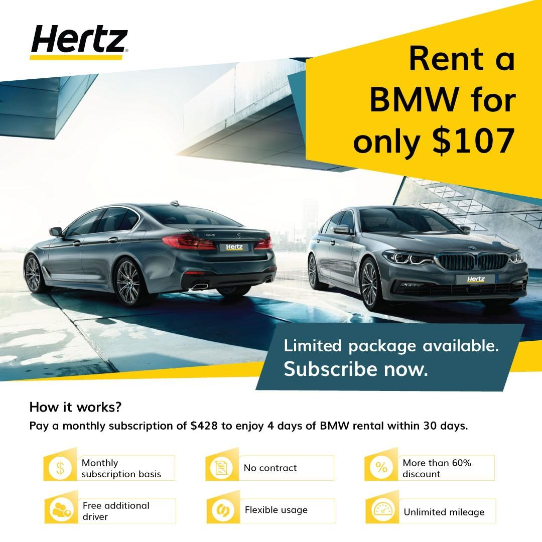 Drive a BMW at $107 per day