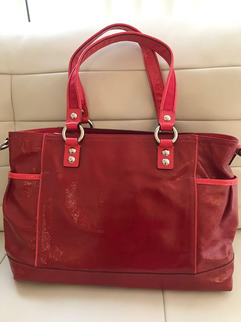 Brand New Authentic Large Coach Poppy Tote Purse Wristlet