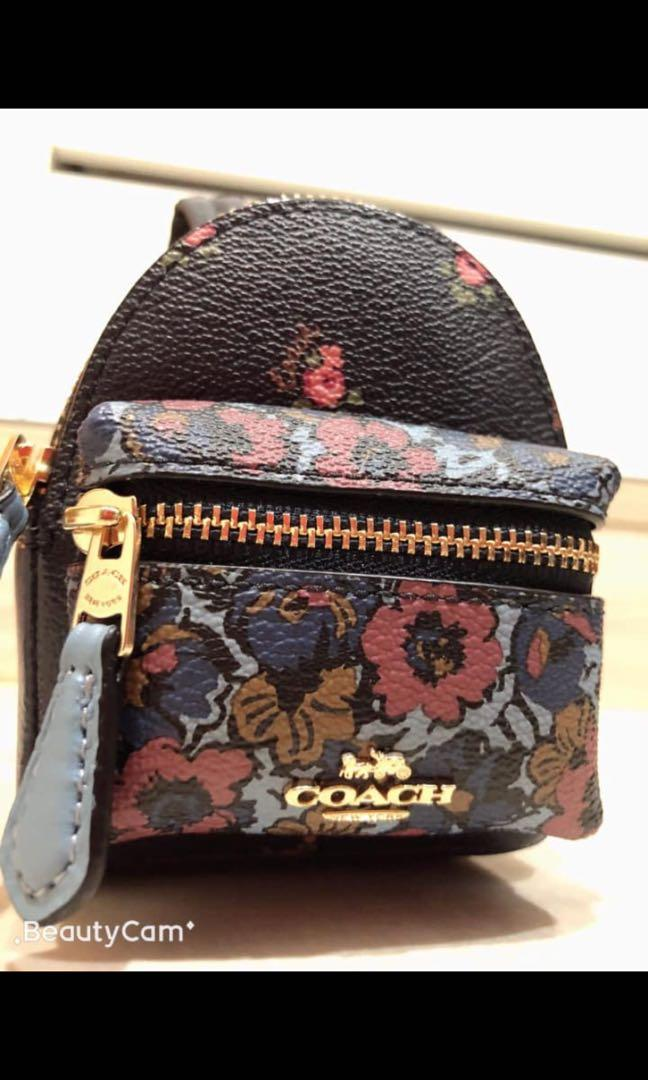 Coach零錢吊飾鑰匙圈 🎒限量是殘酷的🎒 正櫃購買附上購證吊牌 $$2380