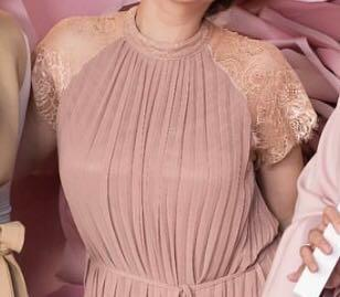 Dust pink pleated dress