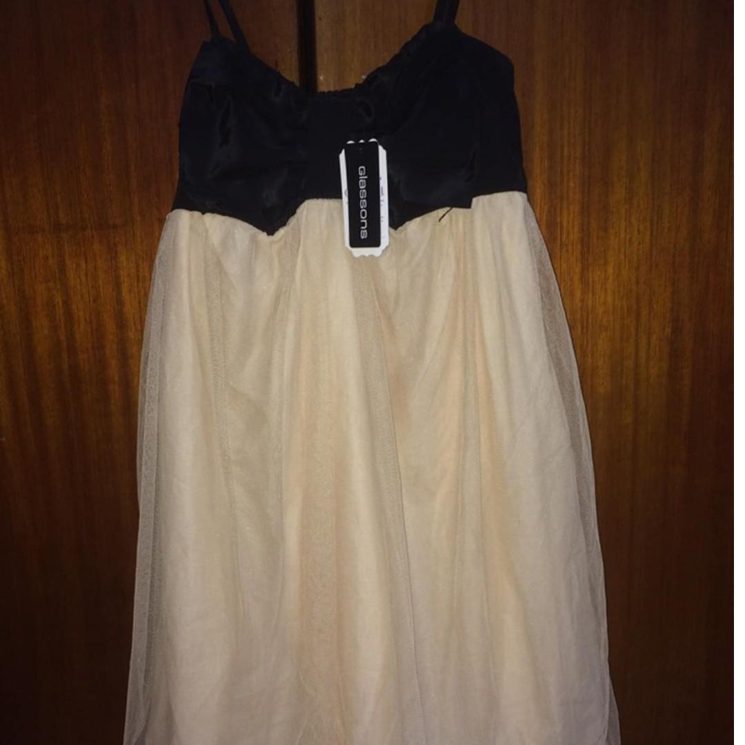 Glassons Champagne & Black Dress.  Brand NEW with Tags.