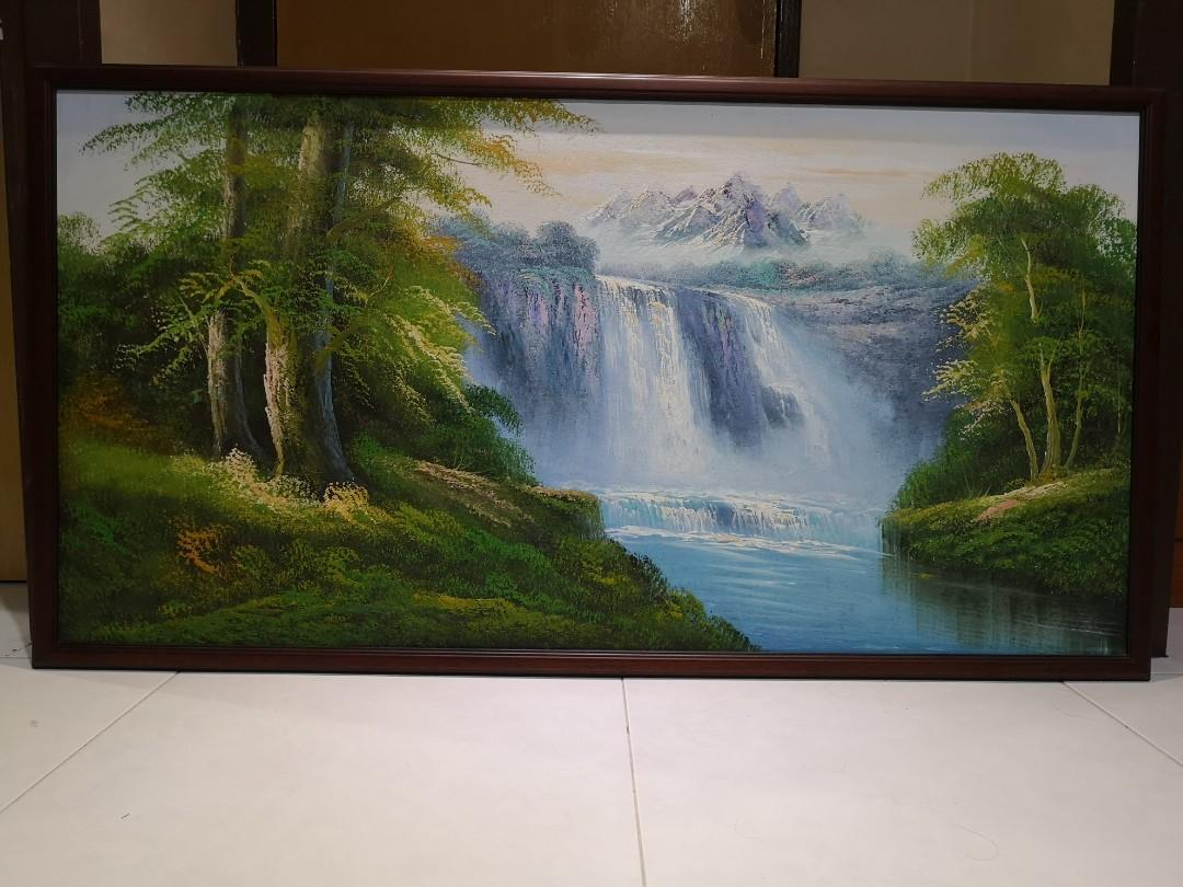 Hand-painted scenery art frame