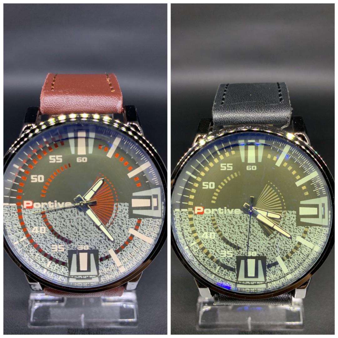 Jam Tangan NEO KULIT  Tali kulit tebal kaca tebal diameter 5cm 0.15kg
