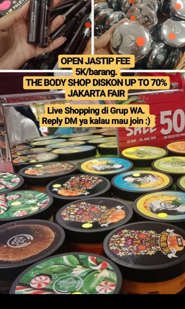 Jastip the body shop jakarta fair