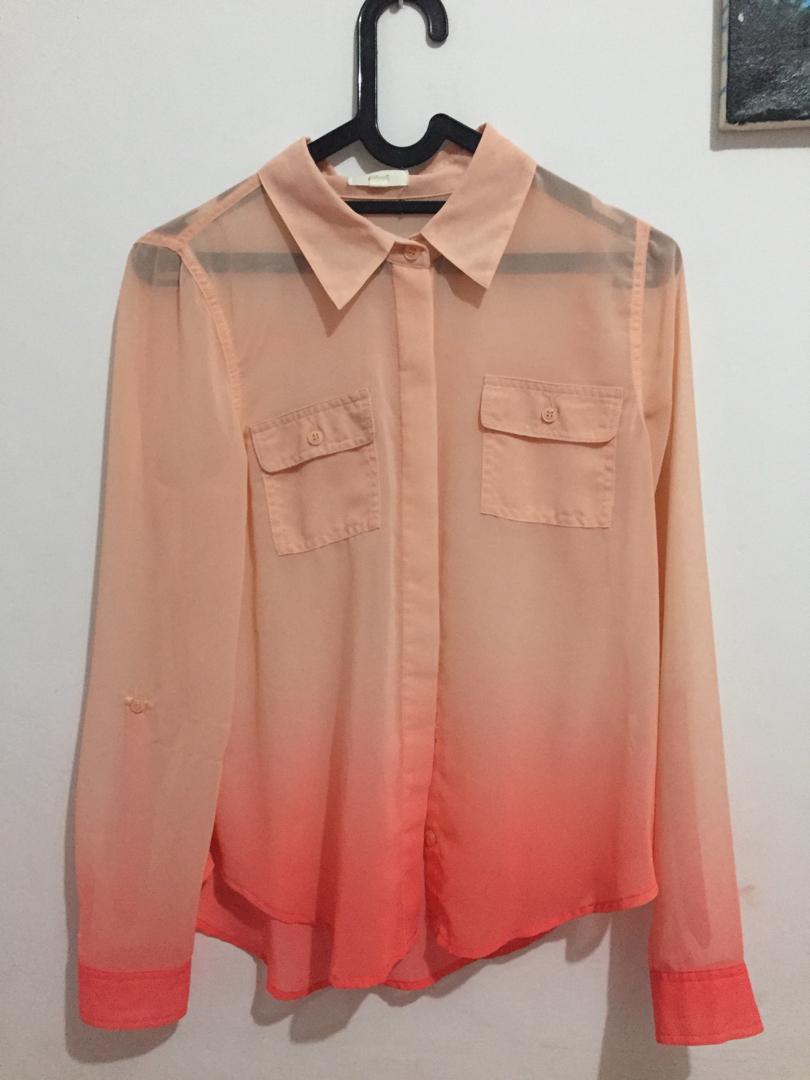 Kemeja Pink/Peach