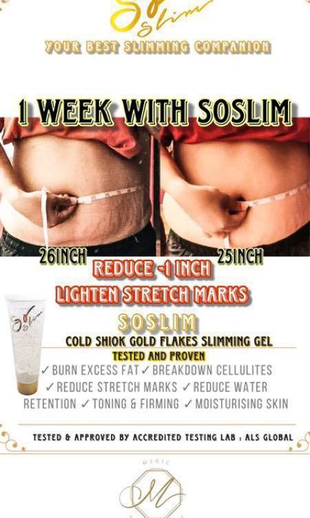 Soslim Slimming Gel, Instocks #MRTHougang #MRTSerangoon #MRTJurong #MRTBedok #MRTTampines #MRTPunggol