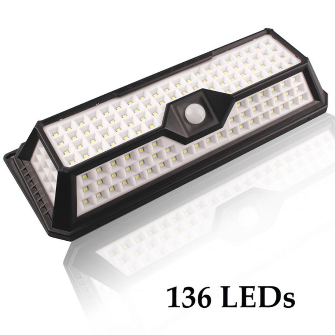 LED Solar Lights. 136 LED Outdoor PIR Motion Sensor Solar Lamp
