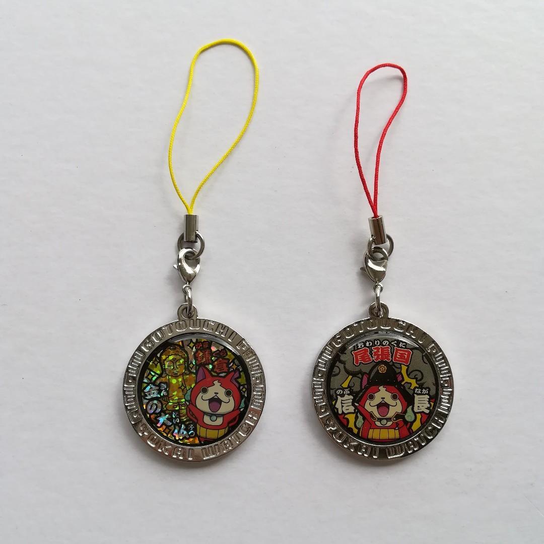 (Limited) Yokai Watch - Jibanyan (Kamakura: Gold Big Buddha Nyan! / Owari Province: Oda Nobunaga Nyan!) - Metal Coin Strap