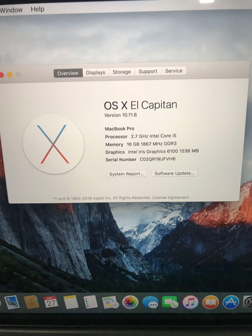MacBook Pro 2015 retina good condition
