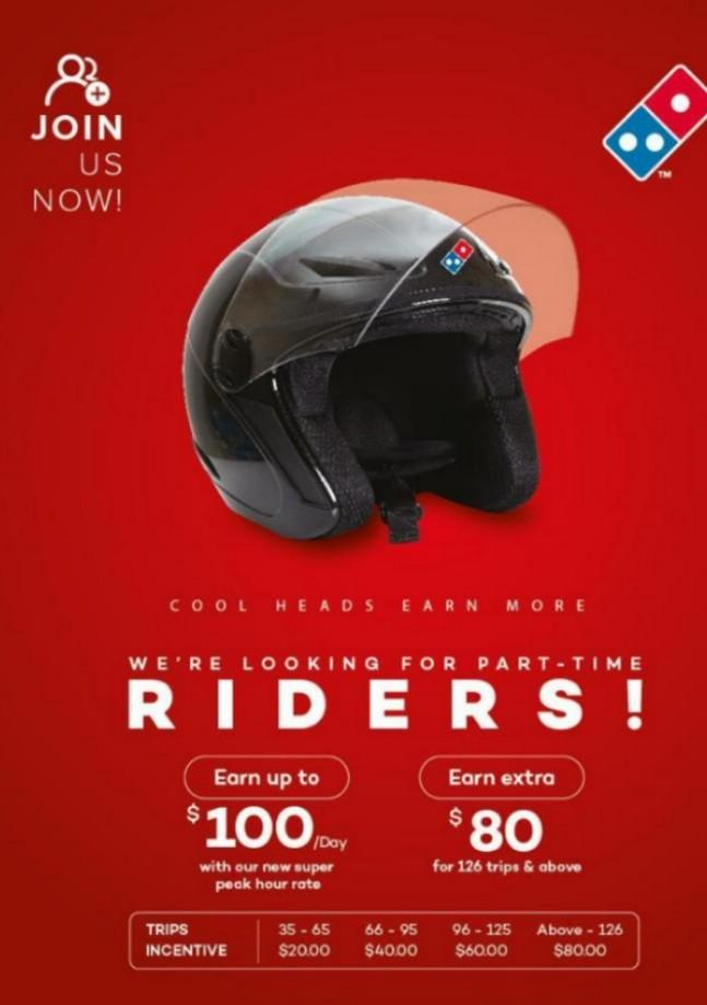 Mass Hiring for Part Time Riders and Pizzamakers !