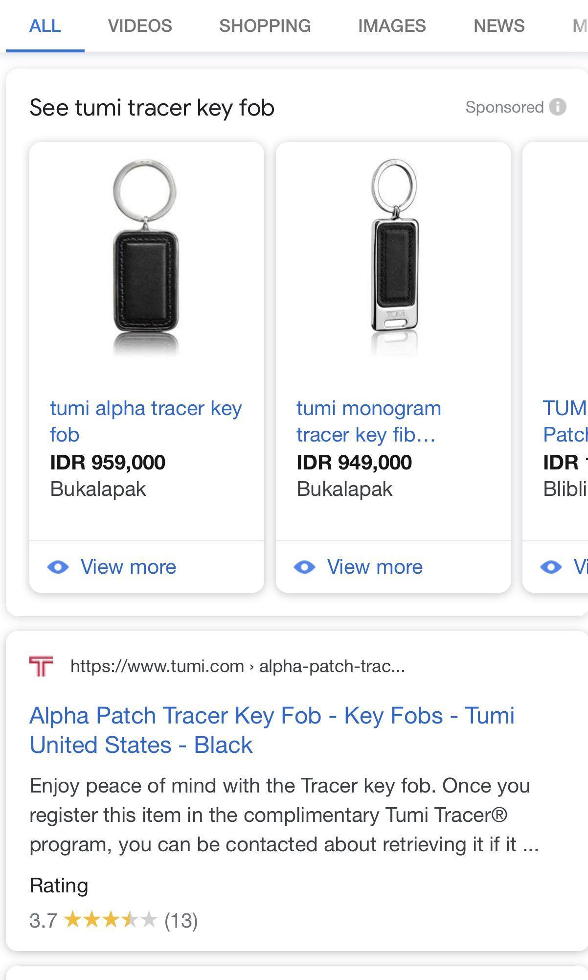 #mauvivo Tumi Tracer key Fob
