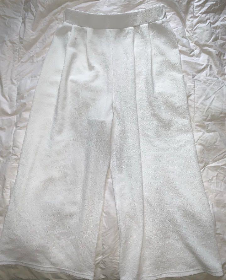 Miss Valley (Valley Girl) White Flared Pants - AU Size 8