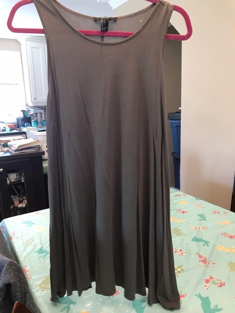 Olive green dress size large