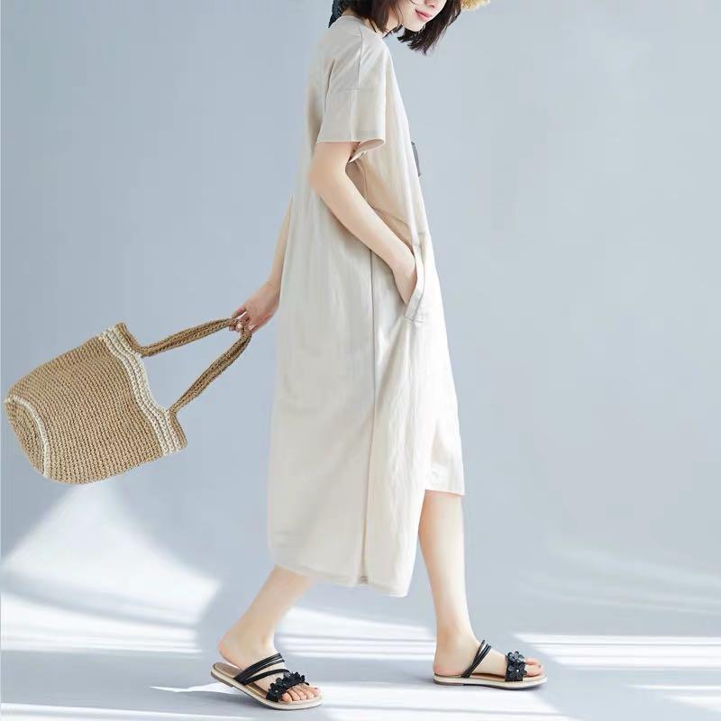 Plus Size Irregular Hem Dress Casual T-Shirt