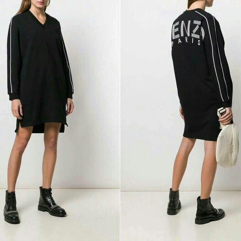 Ready KENZO logo black Sport sweater (model loose) •sz M LD 110cm panjang 92cm •sz S LD 100cm panjang 90cm  3.600.000