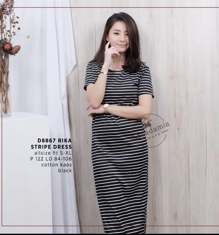 Rika stripe dress
