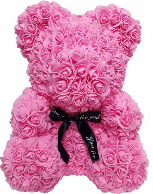 Rose Teddy Bear, Birthday Gift, Anniversary Gift, Wedding Gift