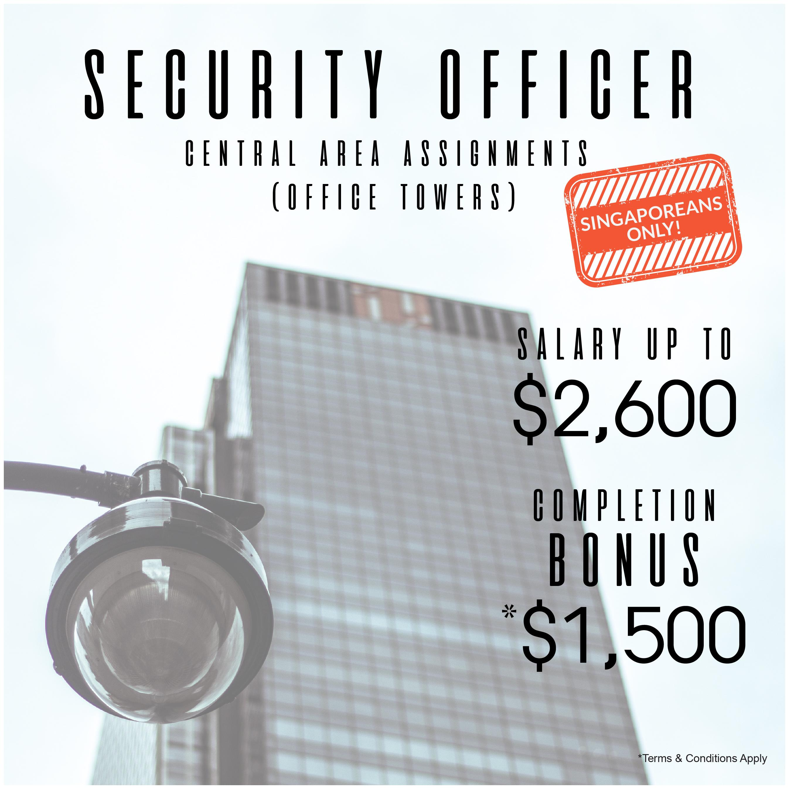 Security Officer - Central Area Assignments (Office Towers)