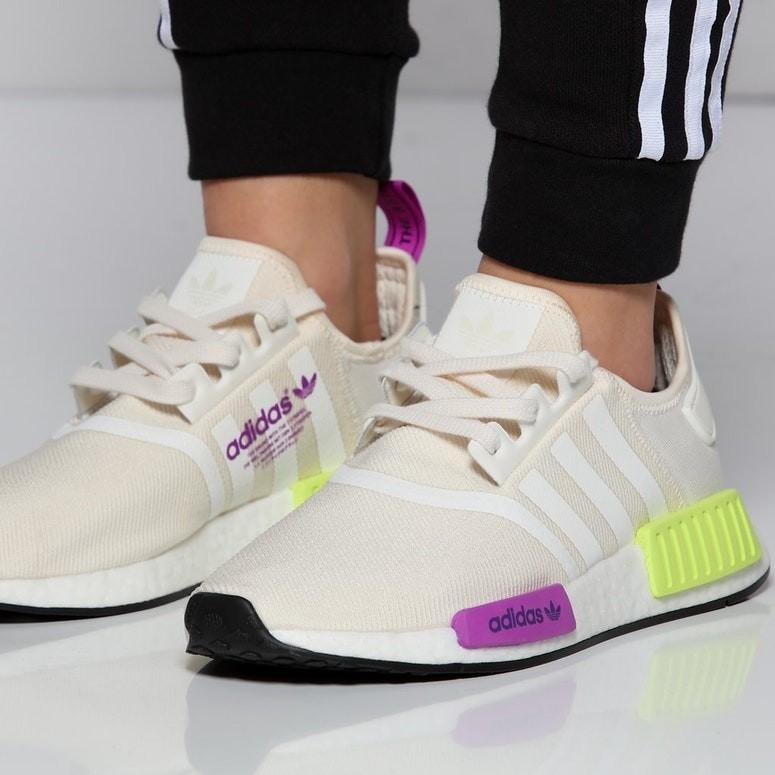Adidas NMD R1 Chalk White \u0026 Semi Solar