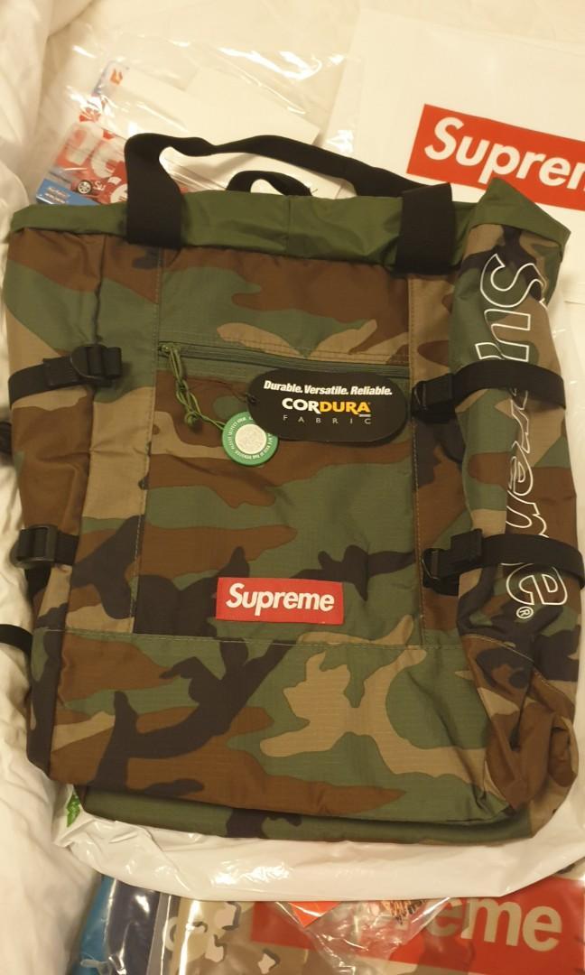 Supreme Bogo Camo Tote Bag, Men's Fashion, Bags & Wallets