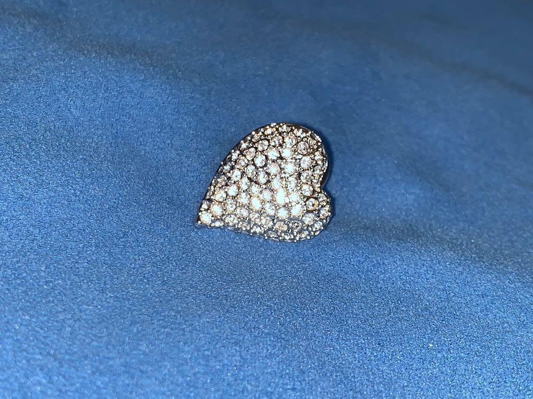 Swarovski  心形 心口針 2cm