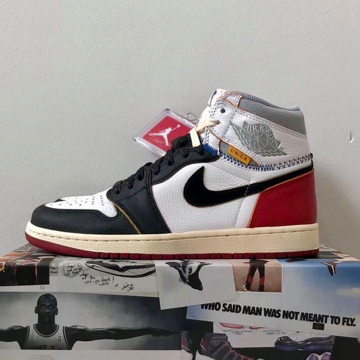 Nike X 1 Air Jordan 'black Union Toe' La 0OmnwvyN8