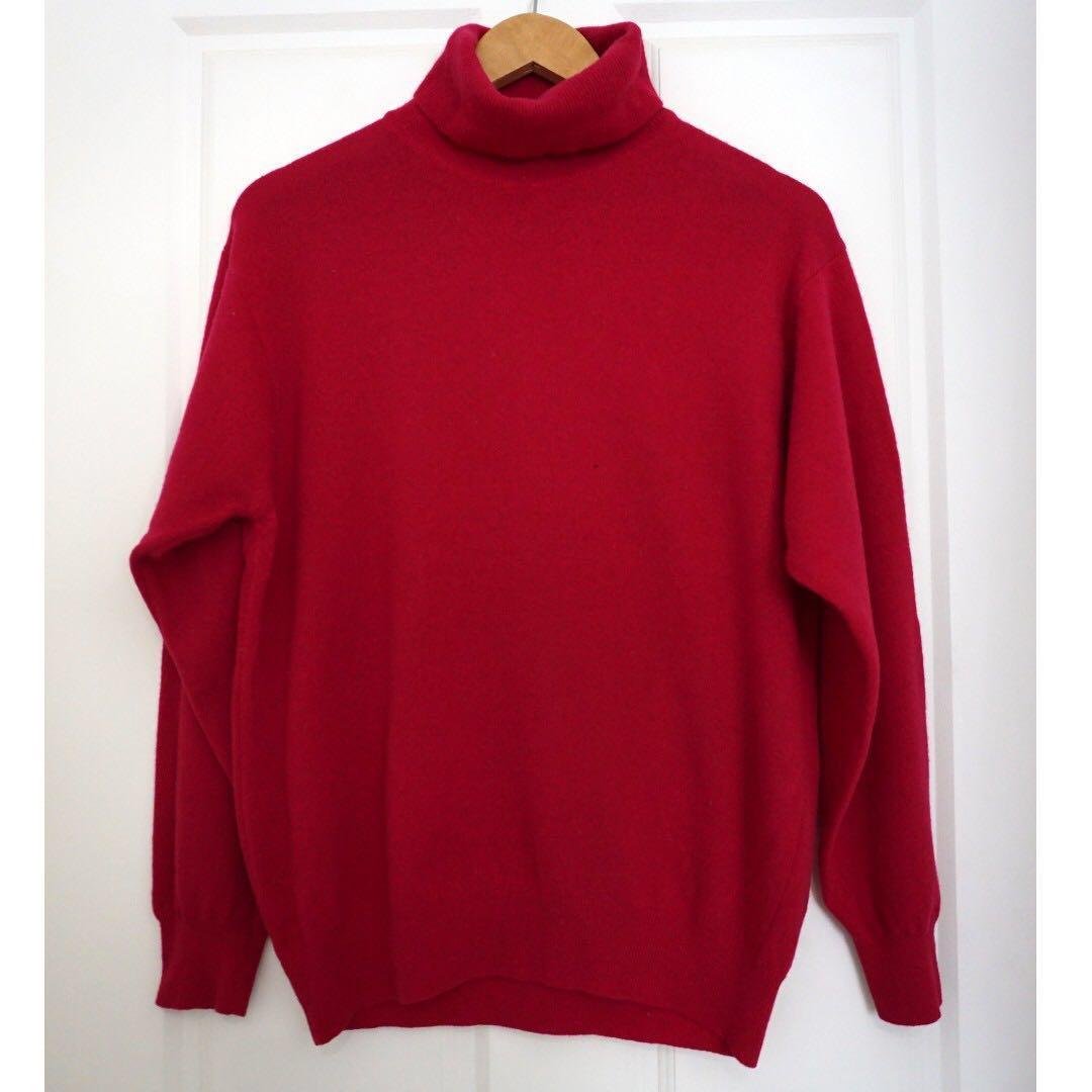 United Colors of Benetton Pure Lambs wool Pink Jumper XXL #swapAU