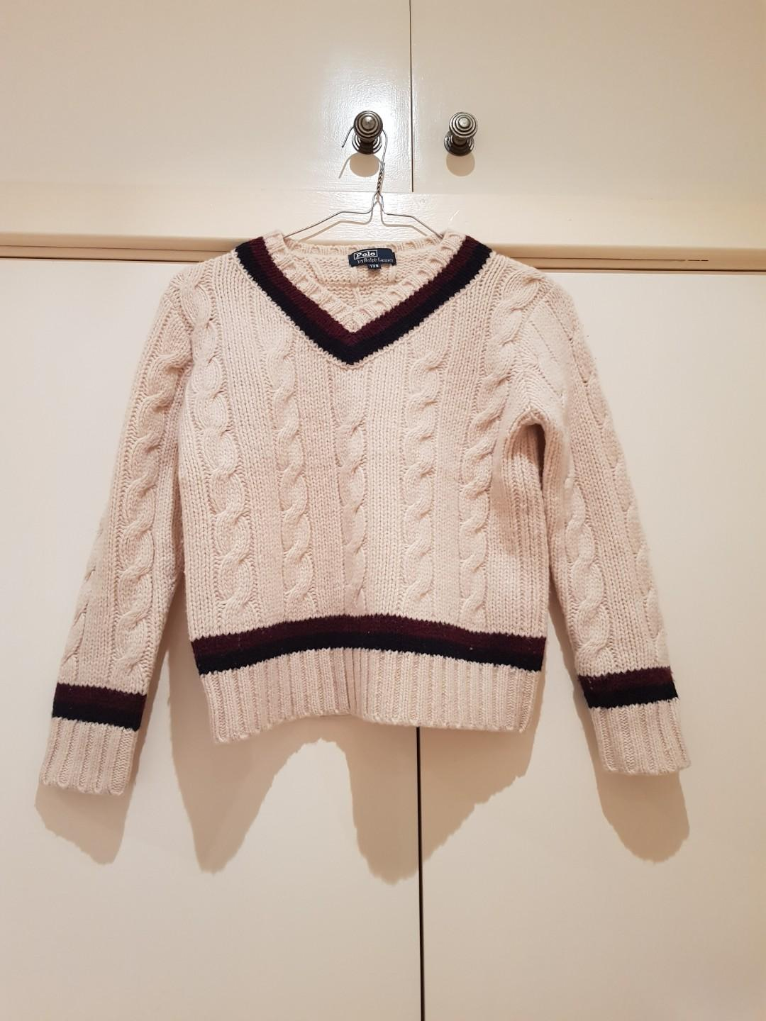 Vintage Polo by Ralph Lauren Cable Knit Sweater Size XXS/4