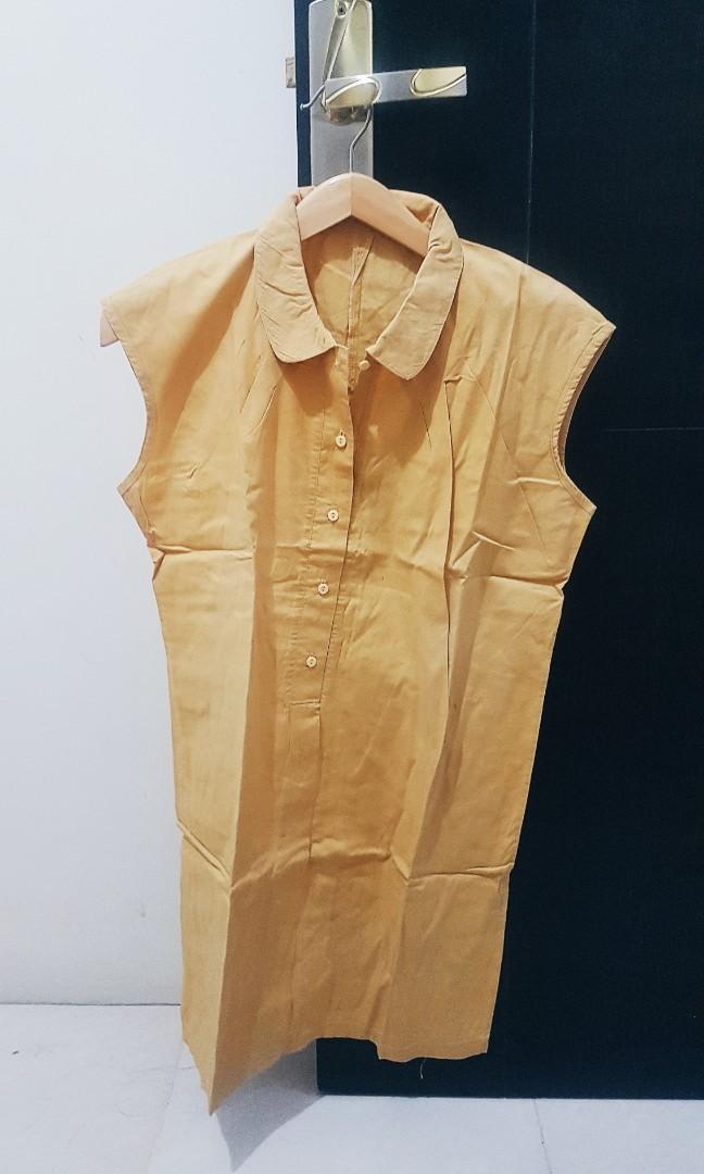 Yellow mustard dress